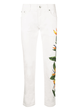 Dolce & Gabbana bird of paradise print jeans - White
