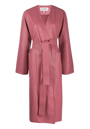 Loewe belted oversized coat - Pink