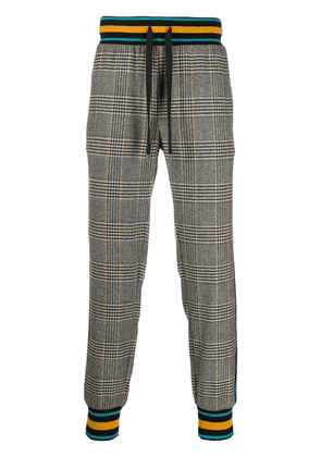 Dolce & Gabbana check wool track pants - Black
