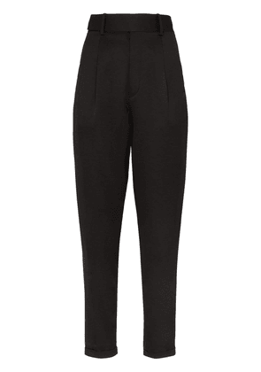 Saint Laurent high-waisted tailored trousers - Black