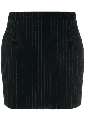 Saint Laurent pinstriped mini skirt - Black