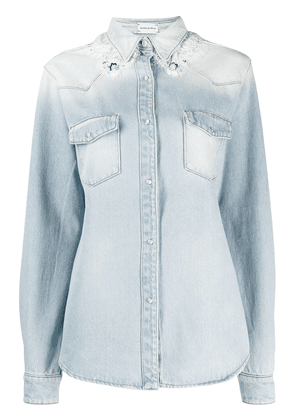 Magda Butrym degrade effect denim shirt - Blue