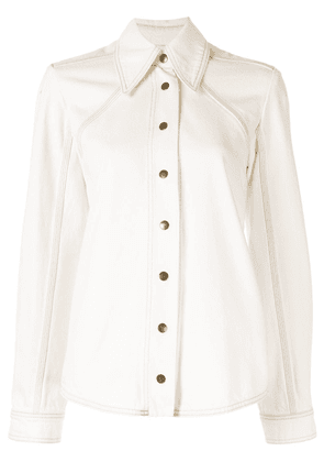 Ingorokva Jei denim shirt - White