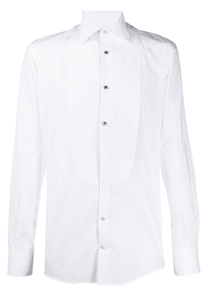 Dolce & Gabbana chest appliqué fitted shirt - White