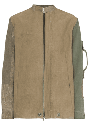 By Walid panelled zip-front jacket - Green