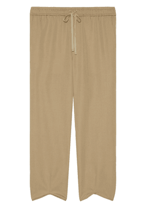 Gucci ankle slits track bottoms - Neutrals