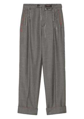 Gucci Wool pant with stitching - Grey