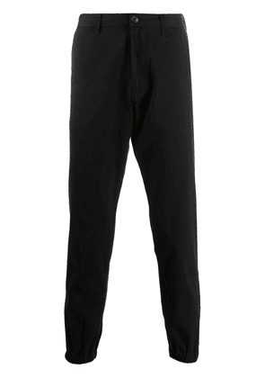 Gucci logo embroidered chinos - Black