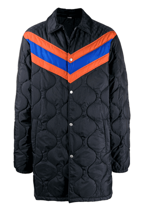 Gucci chevron stripe padded jacket - Blue