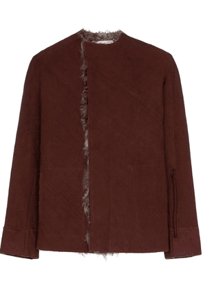 By Walid Etienne shearling jacket - Red