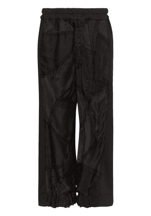 By Walid Sergio embroidered trousers - Black