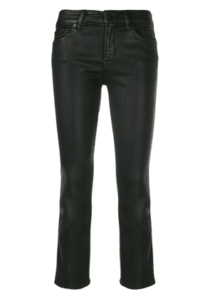 7 For All Mankind faux leather cropped trousers - Black