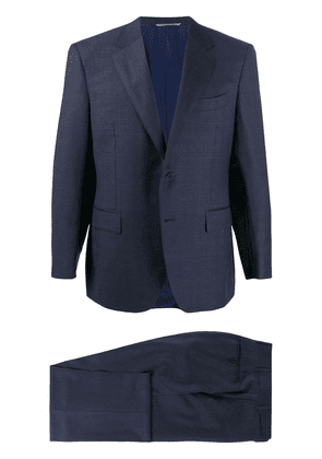 Canali slim fit single-breasted suit - Blue