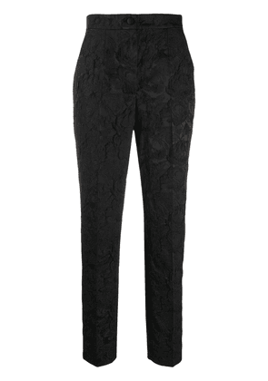 Dolce & Gabbana floral brocade trousers - Black
