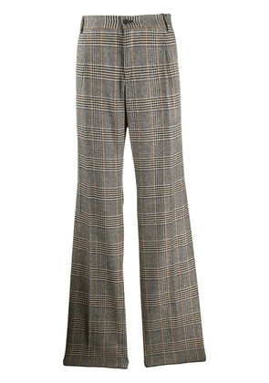 Dolce & Gabbana flared check-print tailored trousers - Grey