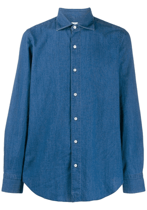 Finamore 1925 Napoli denim shirt - Blue