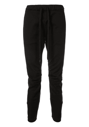 Attachment drawstring waist trousers - Black