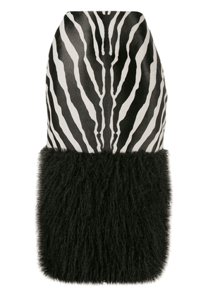 Saint Laurent Zebra print skirt - Black