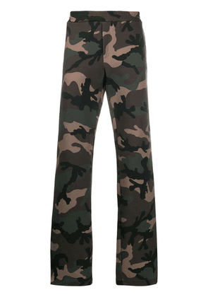 Valentino VLOGO camouflage track trousers - Green