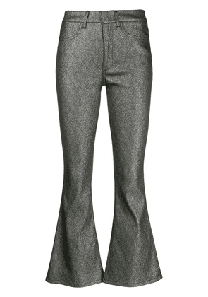 Dondup metallic flared trousers - Silver