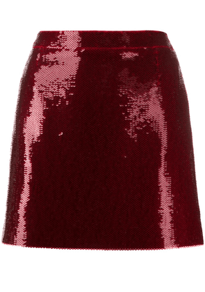 Saint Laurent sequinned mini skirt - Red