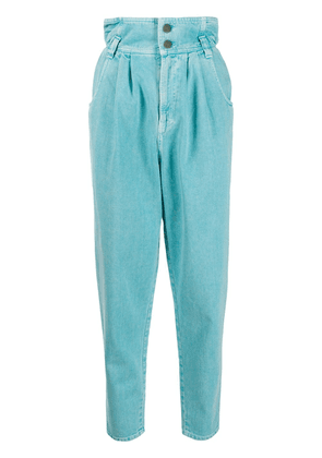 Gucci high waisted tapered jeans - Blue