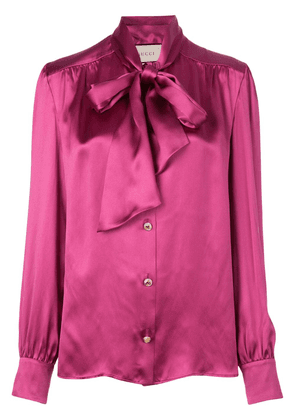 Gucci pussycat bow blouse - Pink