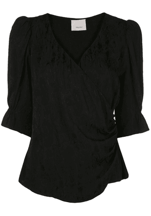 Cinq A Sept Theo wrap-style top - Black