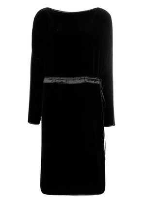Gucci velvet drawstring midi dress - Black