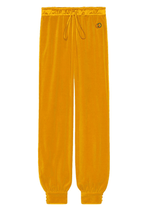 Gucci GG chenille track pants - Yellow