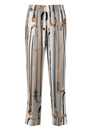 Dolce & Gabbana walking stick print track pants - White