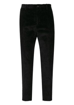 Dolce & Gabbana corduroy tapered trousers - Black