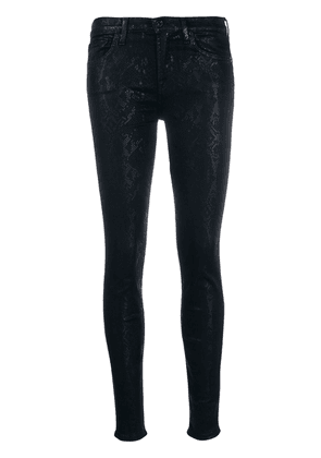 7 For All Mankind snake print skinny trousers - Blue