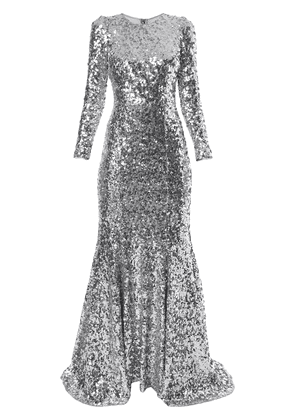 Dolce & Gabbana sequinned evening gown - Silver