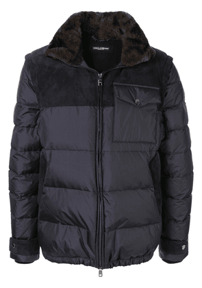 Dolce & Gabbana padded zip-front jacket - Blue