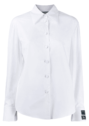 Gucci logo patch tailored shirt - White