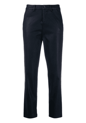 7 For All Mankind high waisted cropped trousers - Blue