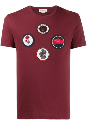 Alexander McQueen badge patches T-shirt - Red