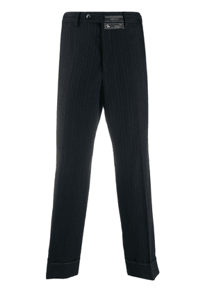 Gucci pinstripe cropped trousers - Blue