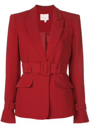 Cinq A Sept single-breasted belted blazer - Red