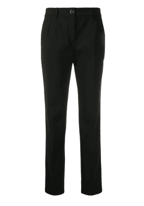 Dolce & Gabbana cropped slim-fit trousers - Black