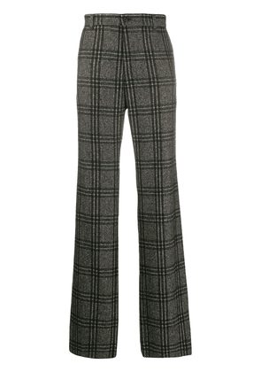 Dolce & Gabbana checked loose-fit trousers - Green