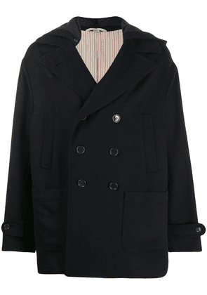 Gucci boxy fit pea coat - Blue