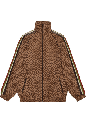 Gucci oversize G rhombus zip jacket - Brown