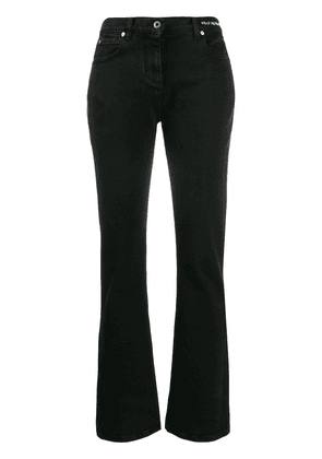 Valentino embroidered slogan flared jeans - Black