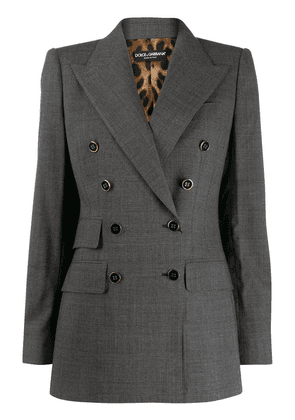 Dolce & Gabbana checked double-breasted blazer - Grey