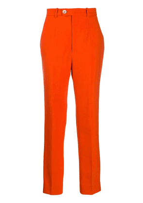 Gucci high-rise tapered trousers - ORANGE