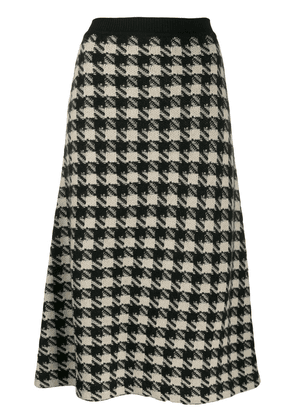 Gucci Houndstooth knitted midi skirt - Black