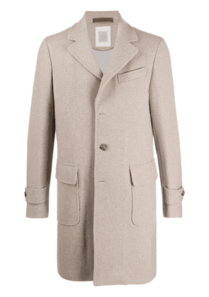 Eleventy single-breasted coat - NEUTRALS