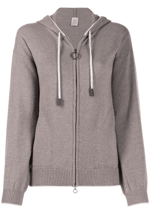 Eleventy knitted cashmere hoodie - Grey